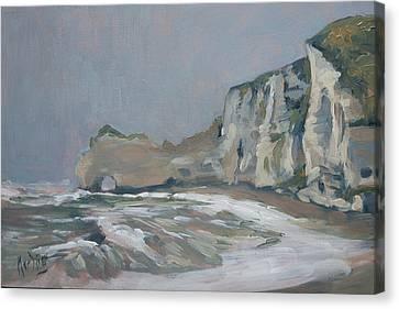 Canvas Print - Rock Of Amont Etretat After The Rain by Nop Briex