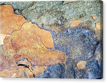Canvas Print featuring the photograph Rock Pattern by Christina Rollo