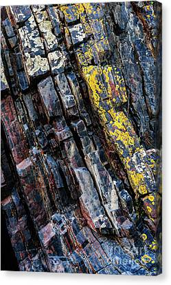 Canvas Print featuring the photograph Rock Pattern Sc02 by Werner Padarin