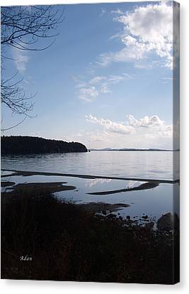 Canvas Print featuring the photograph Rock Point North View Vertical by Felipe Adan Lerma