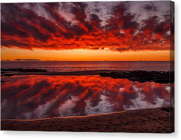 Rock Pool Reflections Canvas Print