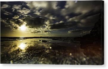 Rock Pool Sunrise Canvas Print