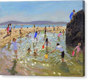 Rock Pool, Tenby Canvas Print