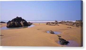 Rock Pools Canvas Print by Richard Brookes
