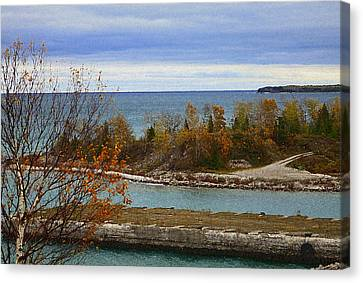 Hovind Canvas Print - Rock Port In Alpena Michigan by Scott Hovind