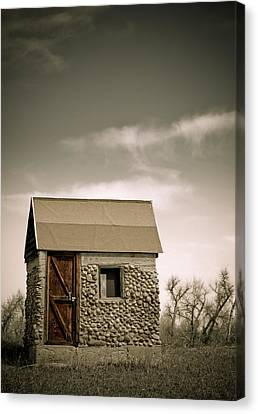 Rock Shed Canvas Print by Marilyn Hunt