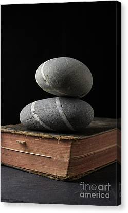 Book Pages Canvas Print - Rock Solid Faith by Edward Fielding