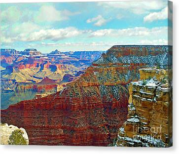 Canvas Print featuring the photograph Rock Solid by Roberta Byram