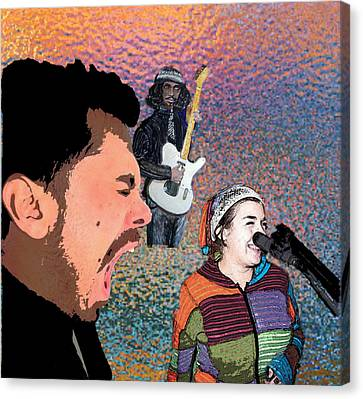 Rock Star Couple Canvas Print by Penfield Hondros