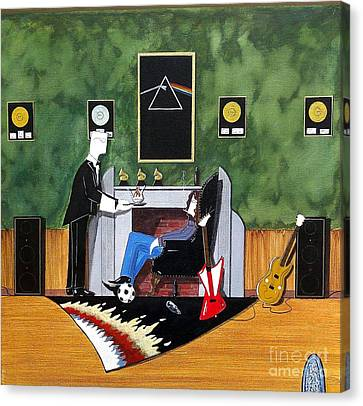 Rock Star Sitting In Chair Served A Sundae By Butler Canvas Print by John Lyes