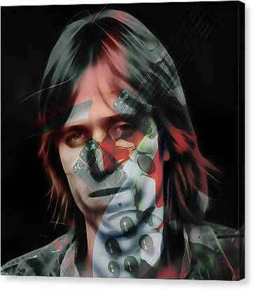 Canvas Print featuring the mixed media Rock Star Tom Petty by Marvin Blaine