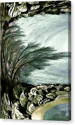 Canvas Print featuring the photograph Rock Tunnel by Pennie  McCracken