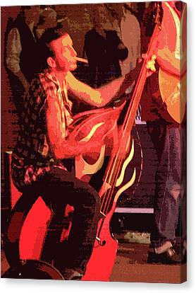 Rockabilly Bass Player Canvas Print by Andy Jeter