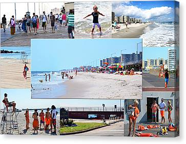 Rockaway Beach And Boardwalk 003 Canvas Print