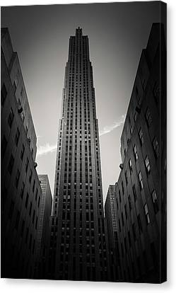 Rockefeller Center Canvas Print by Dave Bowman