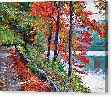 Rockefeller Park Canvas Print by David Lloyd Glover