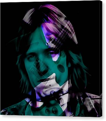 Canvas Print featuring the mixed media Rocker Tom Petty by Marvin Blaine