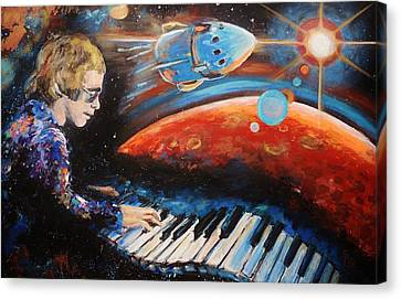 Rocket Man Canvas Print by Shannon Lee