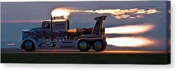 Rocket Truck At Dusk Canvas Print