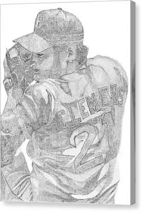 Boston Red Sox Canvas Print - Rocketman by Mike Pedone