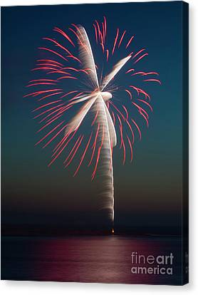 Red Fireworks Canvas Print - Rocket's Red Glare by Mike Dawson
