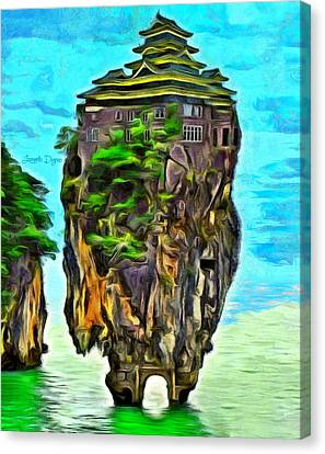 Rockhouse Island - Da Canvas Print by Leonardo Digenio