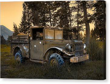 Rockies Transport Canvas Print by Wayne Sherriff