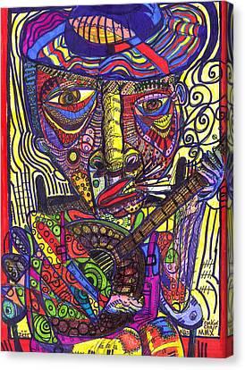 Art Brut Canvas Print - Rockin Chair by Robert Wolverton Jr