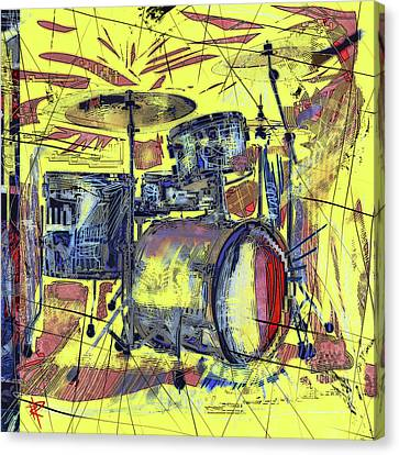 Rockin Drums Canvas Print by Russell Pierce