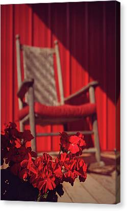 Canvas Print featuring the photograph Rockin' Red by Jessica Brawley
