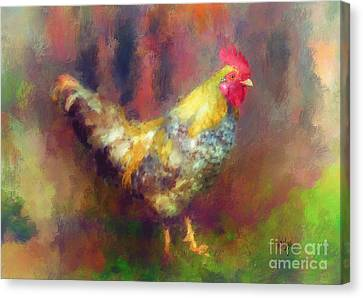 Rockin' Rooster Canvas Print by Lois Bryan