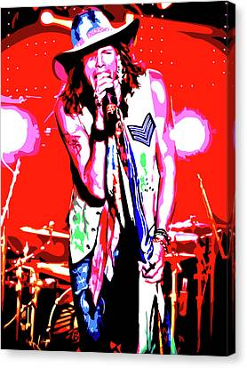 Rockin' Steven Canvas Print by Nathaniel Price