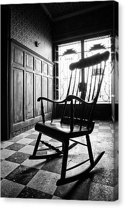 Rocking Chair - Abandoned Building Canvas Print by Dirk Ercken