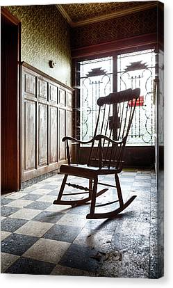 Rocking Chair - Abandoned House Canvas Print by Dirk Ercken