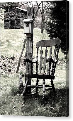 Rocking Chair Canvas Print by Gray  Artus