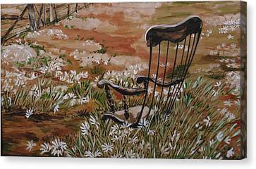 Rocking Chair No.2 Canvas Print by Christine Marek-Matejka