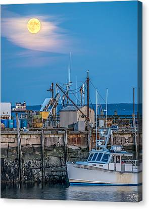 Rockland Hunters Moon Canvas Print by Tim Sullivan