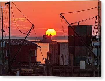 Rockland Sunrise Canvas Print