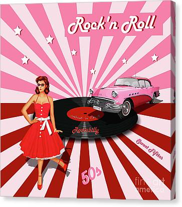 Rock'n Roll The Sweet Fifties Canvas Print