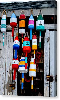 Rockport Bouys Canvas Print