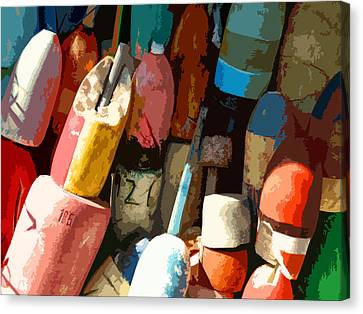 Rockport Buoys Canvas Print