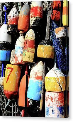 Rockport Buoys Canvas Print