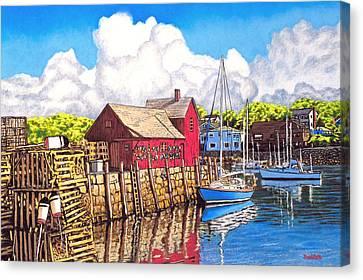 Rockport Cove Canvas Print by David Linton