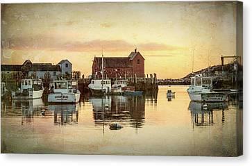 Fishing Shack Canvas Print - Rockport Harbor - #4 by Stephen Stookey