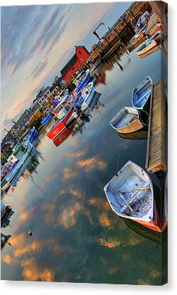 Canvas Print featuring the photograph Rockport Harbor Motif #1  by Joann Vitali
