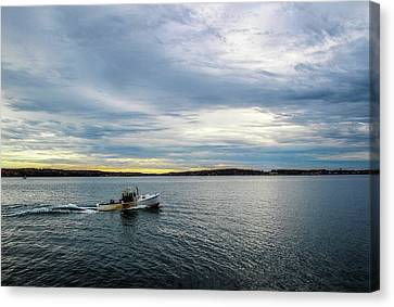 Water Vessels Canvas Print - Rockport Harbor by Terry Davis