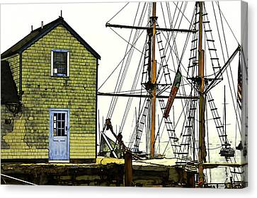 Rockport Harbor Canvas Print by Tom Cameron