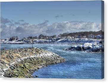 Rockport Ma Fishing Village Canvas Print