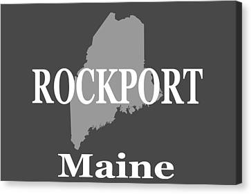 Canvas Print featuring the photograph Rockport Maine State City And Town Pride  by Keith Webber Jr
