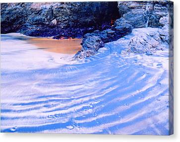 Canvas Print featuring the photograph Rocks And Sand 2 by Lyle Crump